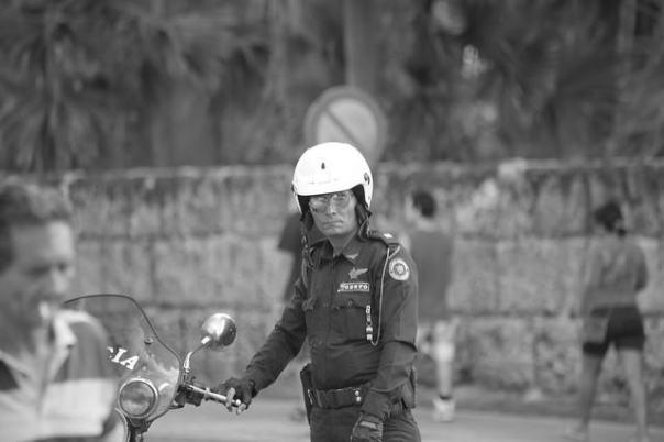 Policía, foto tomada el 28, de enero de 2015, en   Varadero, Matanzas, Cuba. por  Rubiconrouge